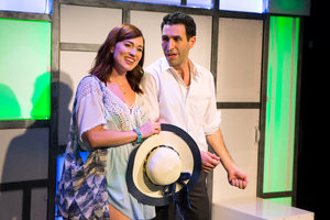 "(l to r) Stefanie Brown and David Perlman in ""A Dog Story"""